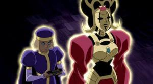 Morgaine le Fey and her son Mordred from Justice League Unlimited.