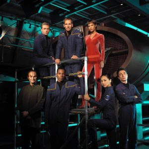The cast of Star Trek: Enterprise TV series.