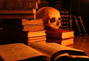 Death-of-Literature-Skull-and-Book