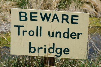 Beware Troll Under Bridge Sign